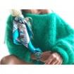 Pull en laine mohair vert