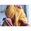 Pull en laine mohair jaune moutarde