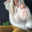 Pull en laine mohair blanc